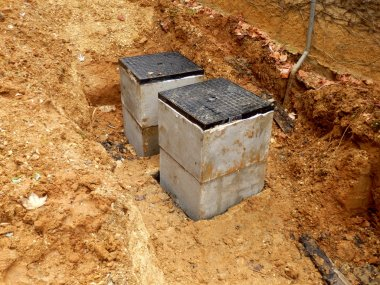 Septic tank inspection hatch