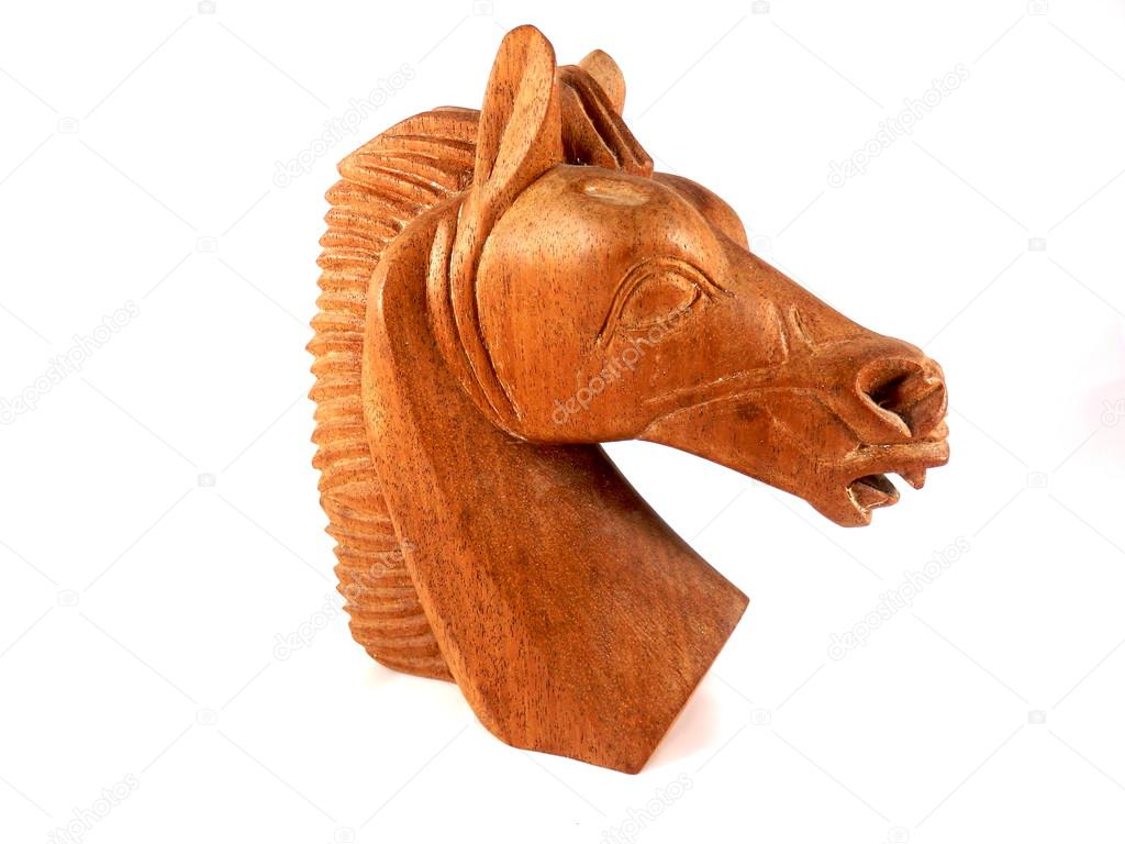 Carved Wooden Horse Wooden Horse Head Stock Photo C Plazaccameraman 75543105