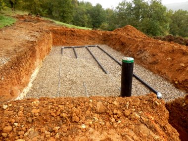 Sand and Gravel Drainage System