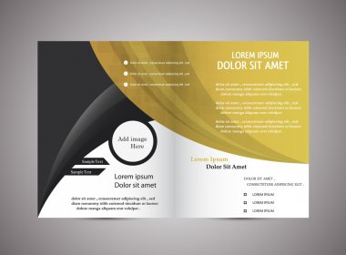 Abstract di fold Brochure