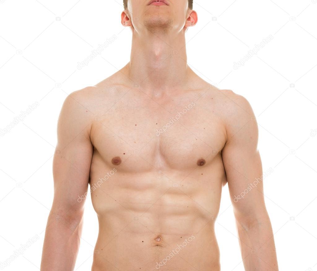 Männliche Brust Anatomie - Mann Muskeln Frontansicht — Stockfoto ...
