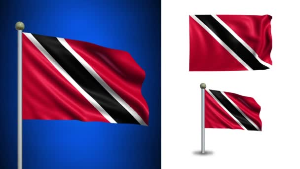 Trinidad flag - with Alpha channel, seamless loop!