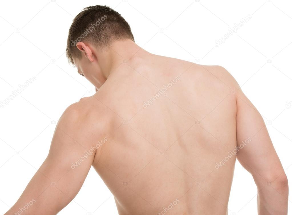 Männlichen wieder Body-Fitness-Anatomie-Konzept — Stockfoto ...