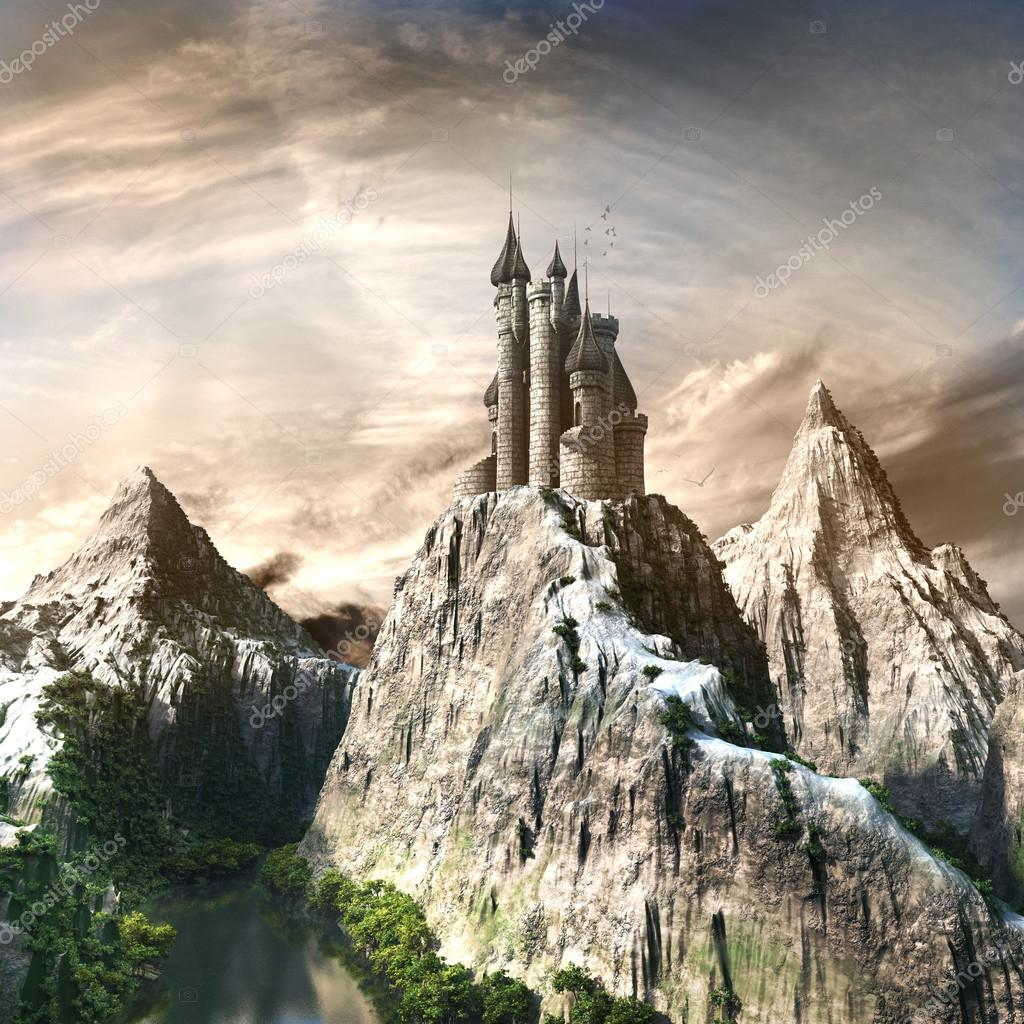 Castle in the high mountains