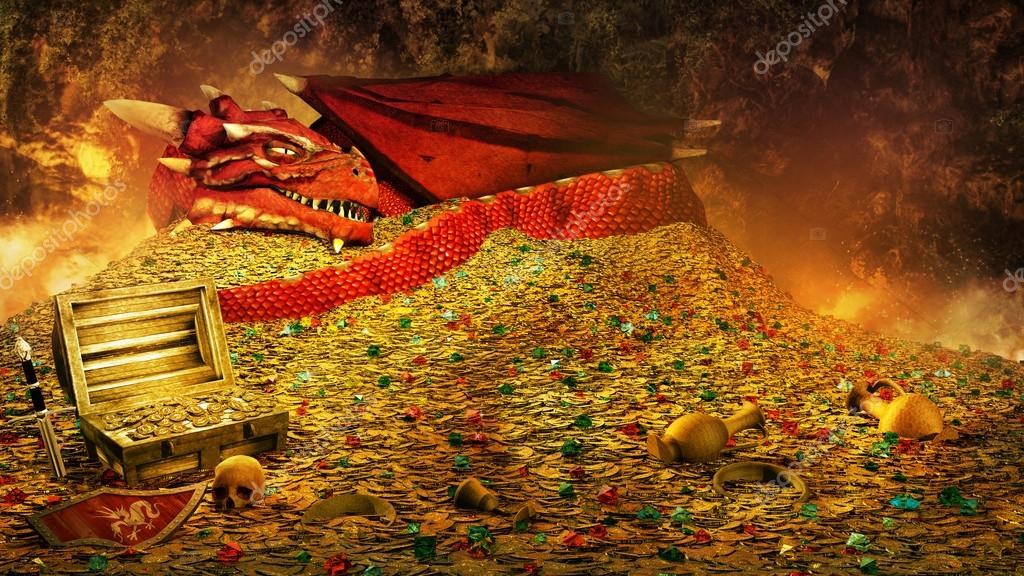 Dragons Treasure Stock Photo Mppriv 87772008