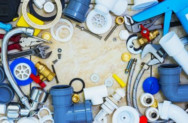 Frame of plumbing tools