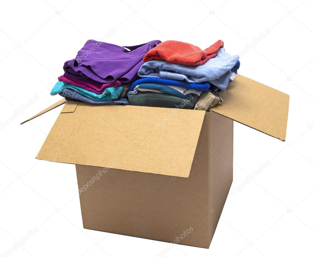 Clothes Folded In A Box and Shot On An Angle — Stock Photo