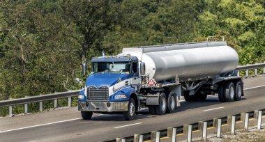 Big Diesel Truck Crossing Bridge