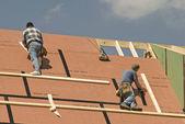Dachdecker bauen neues Zuhause
