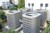 Fotografie Air Conditioning Units At Apartment Complex