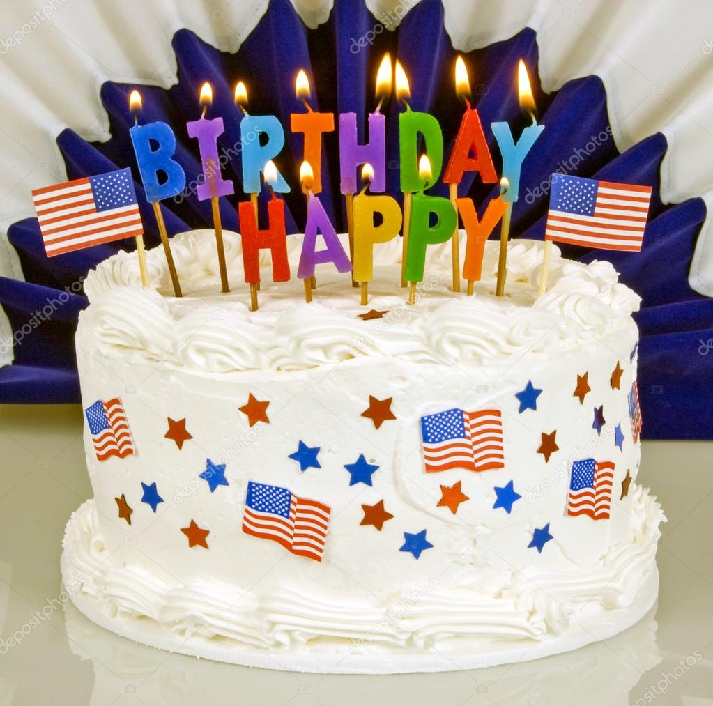 Superb Pics Flag Cakes 4Th Of July Patriotic Birthday Cake Stock Funny Birthday Cards Online Fluifree Goldxyz