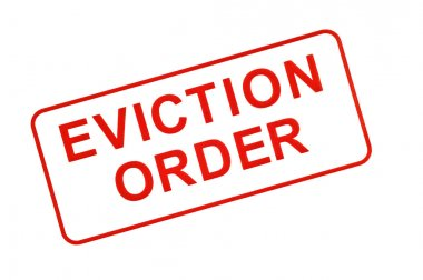 EVICTION ORDER Stamp In Red On White Background