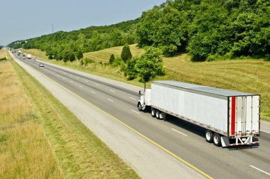 Beautiful Landscape Shown With Truck On Highway