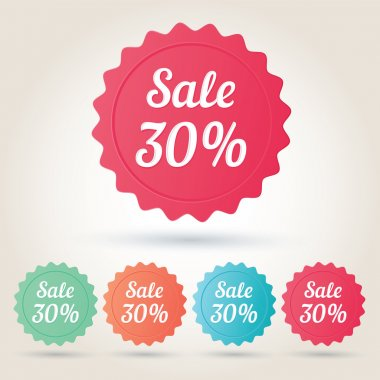 Vector sale 30 per cent badge sticker