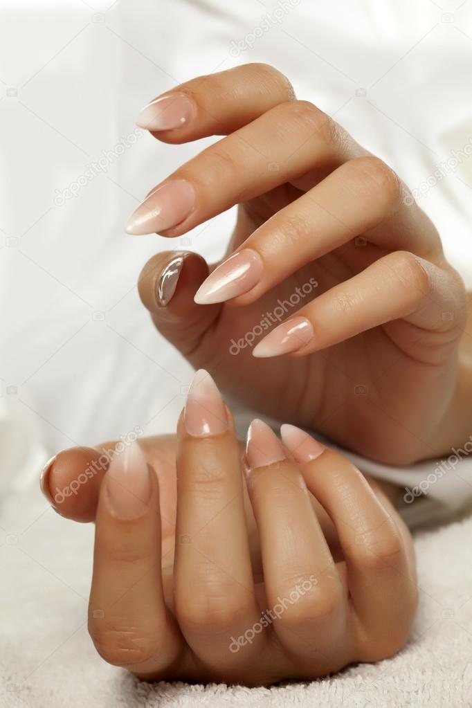 nice manicured nails — Stock Photo © VGeorgiev #110855398