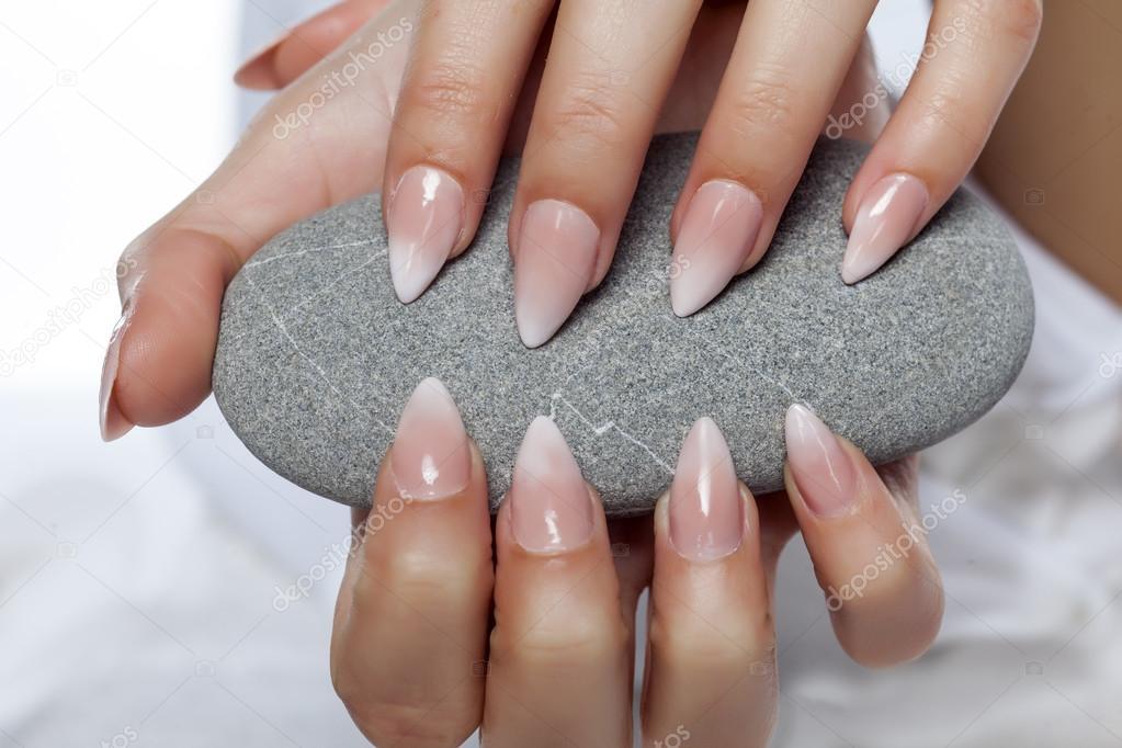nice manicured nails — Stock Photo © VGeorgiev #110856298