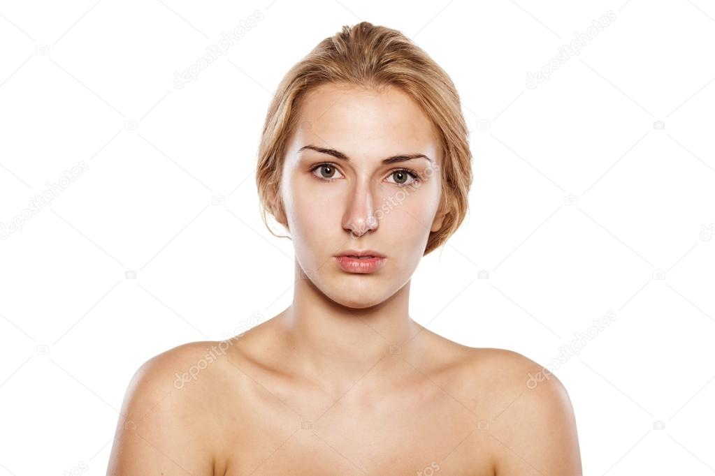 Blonde without makeup