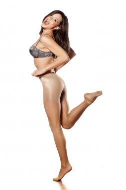 Nylon stockings and bra
