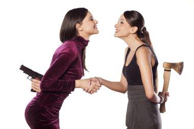 cautious women
