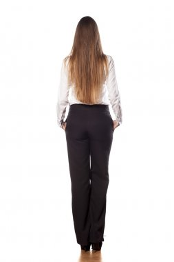 Business woman from behind