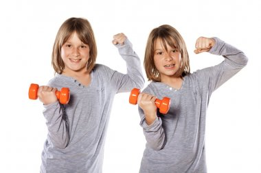 twins exercising