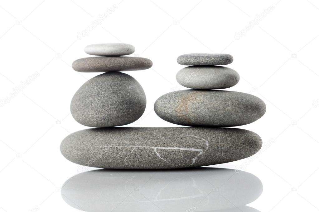 Balanced stack of stones