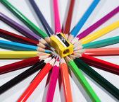 Barevné tužky set a ořezávátko