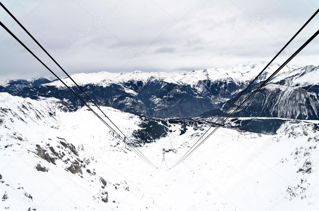 Courchevel 1850 ski resort valley, France