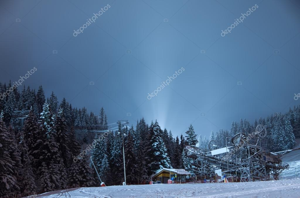 Winter scenery, Meribel, France