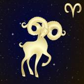 Sign of the zodiac Aries is the starry sky