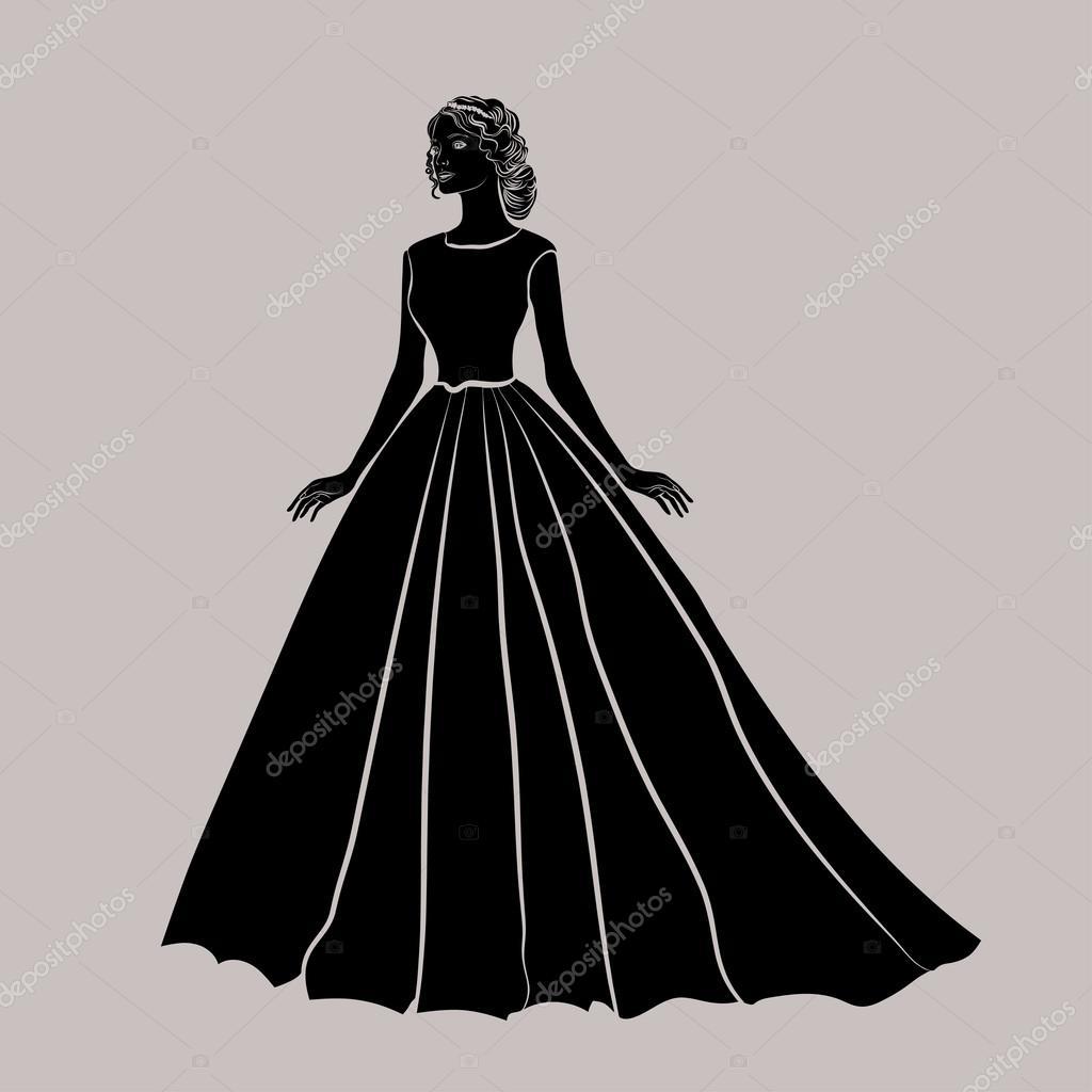 A fekete sziluettje egy menyasszony 9bef283fa1