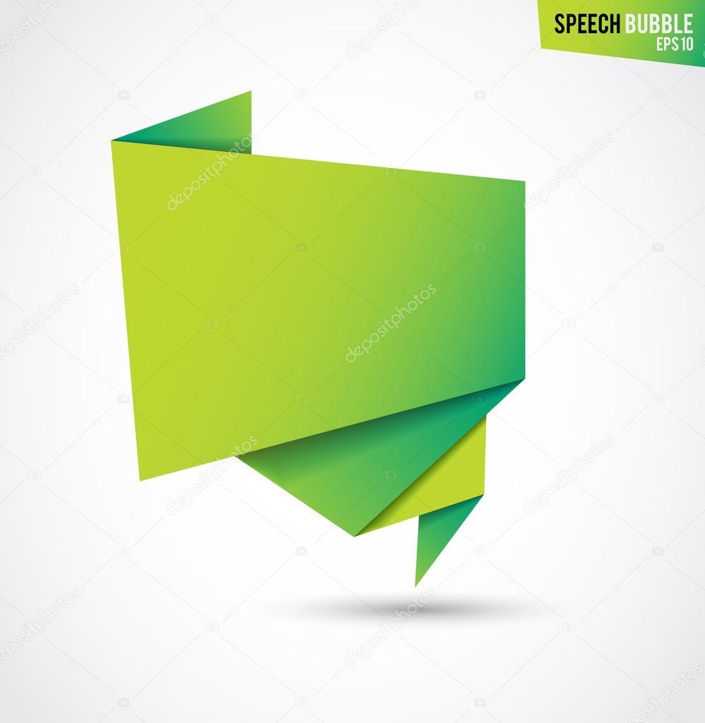 Resumen bandera verde aislada sobre fondo blanco — Vector de stock ...