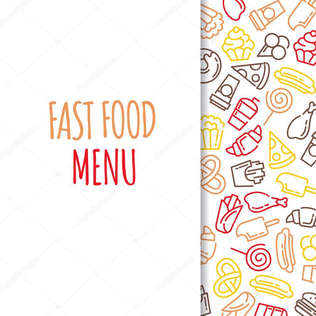 Fondos de menu de comida