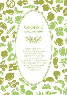 Fruit and vegetables background illustration