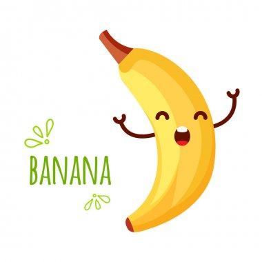 Cheerful Cartoon banana