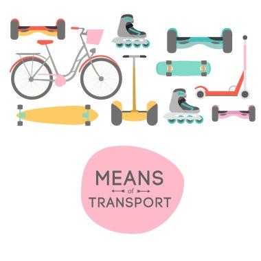 Means of transport background illustration