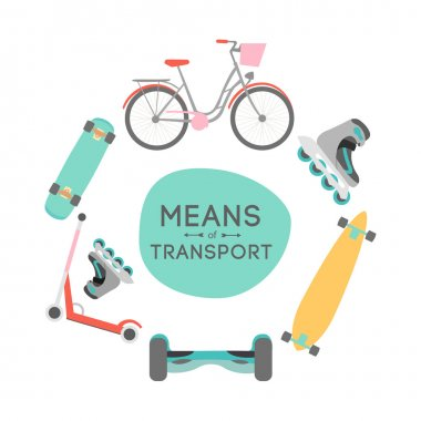 Means of transport background illustration