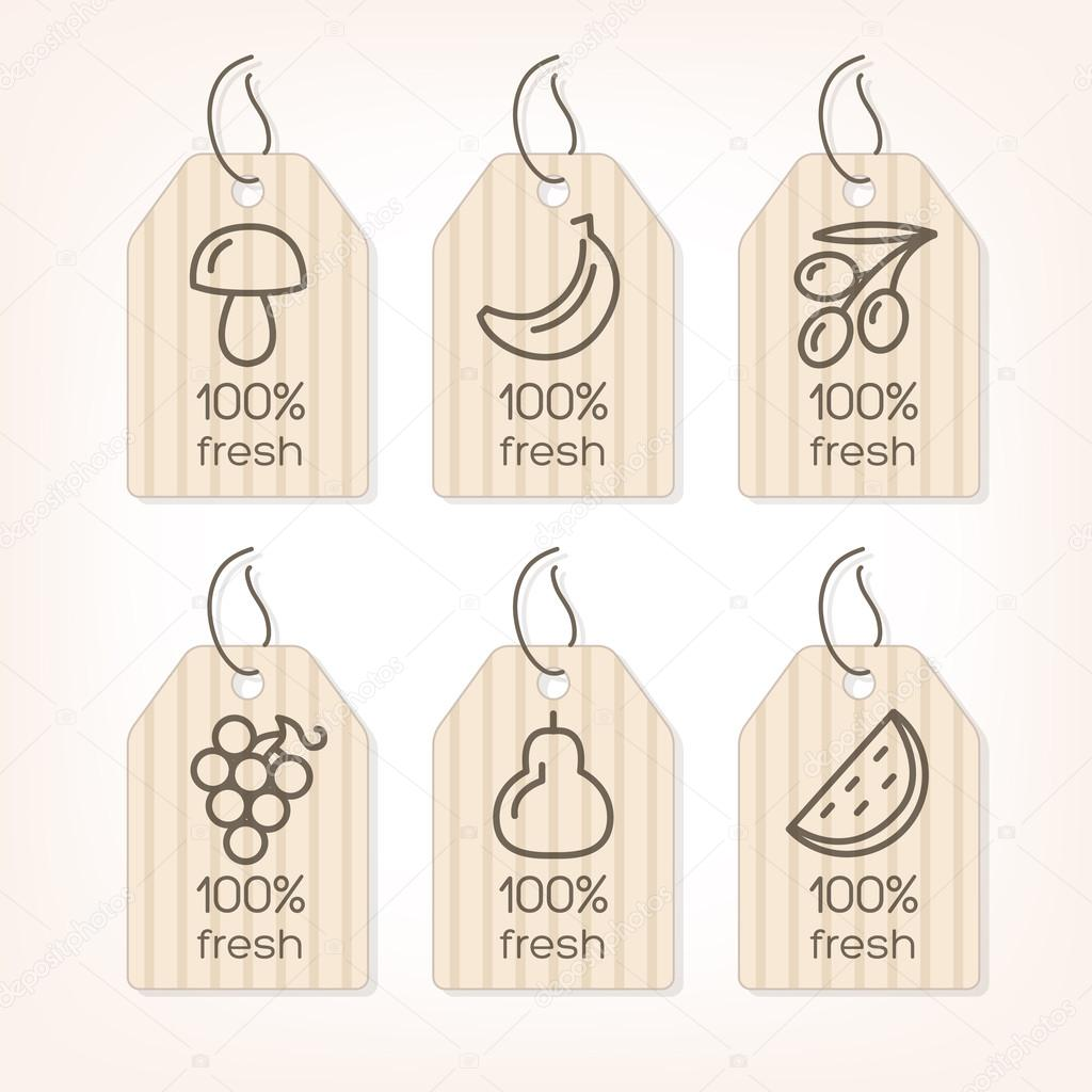 Fruits and Vegetables lined icons