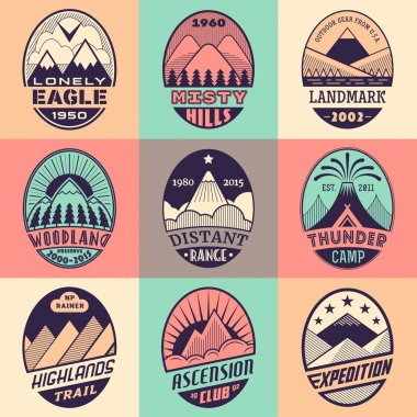 Mountain badge set2color1