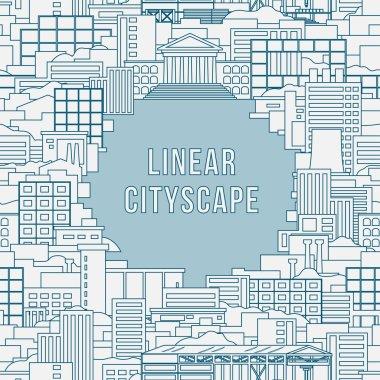 Linear cityscape 1
