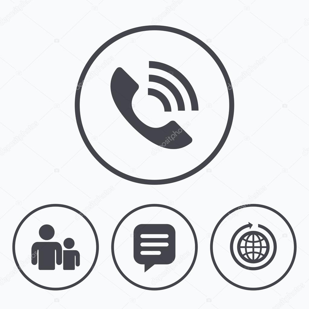 Phone signs and symbols images symbol and sign ideas group of people and phone call stock vector blankstock 103885632 speech bubble and round the world buycottarizona