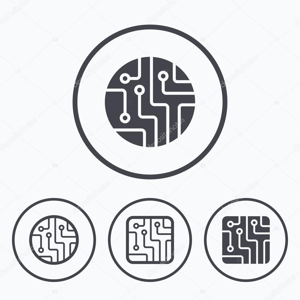 Circuit board signs. — Stock Vector © Blankstock #107828084