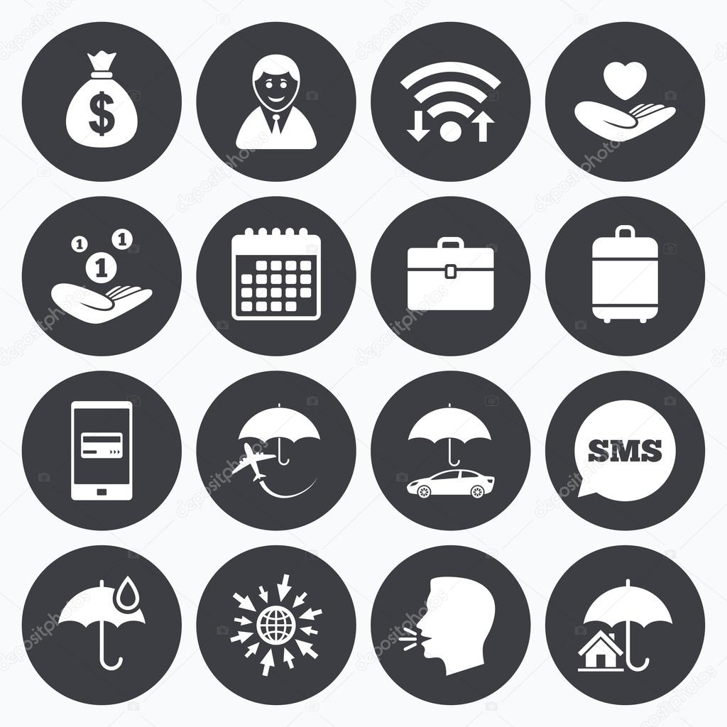 Insurance icons life real estate stock vector blankstock life real estate stock vector biocorpaavc Image collections