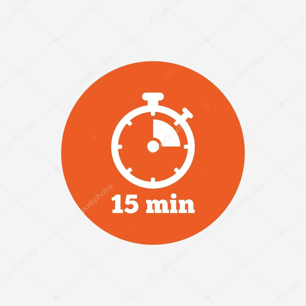 timer sign icon 15 minutes stock vector blankstock 109259280
