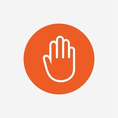 Hand sign icon.