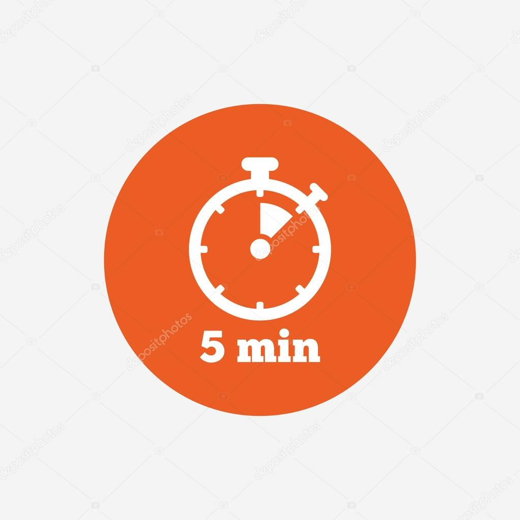 timer sign icon 5 minutes stock vector blankstock 109292782