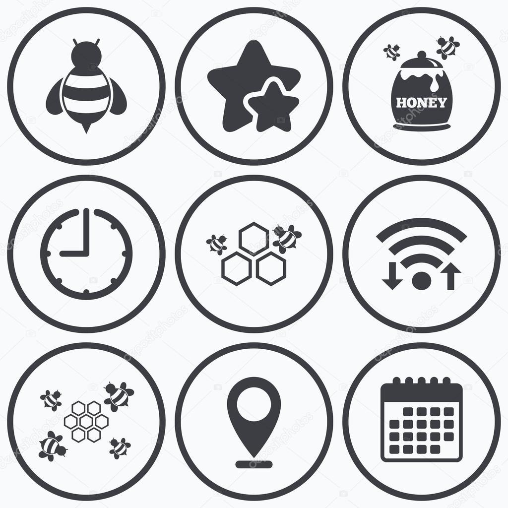 Honey icon. Honeycomb cells