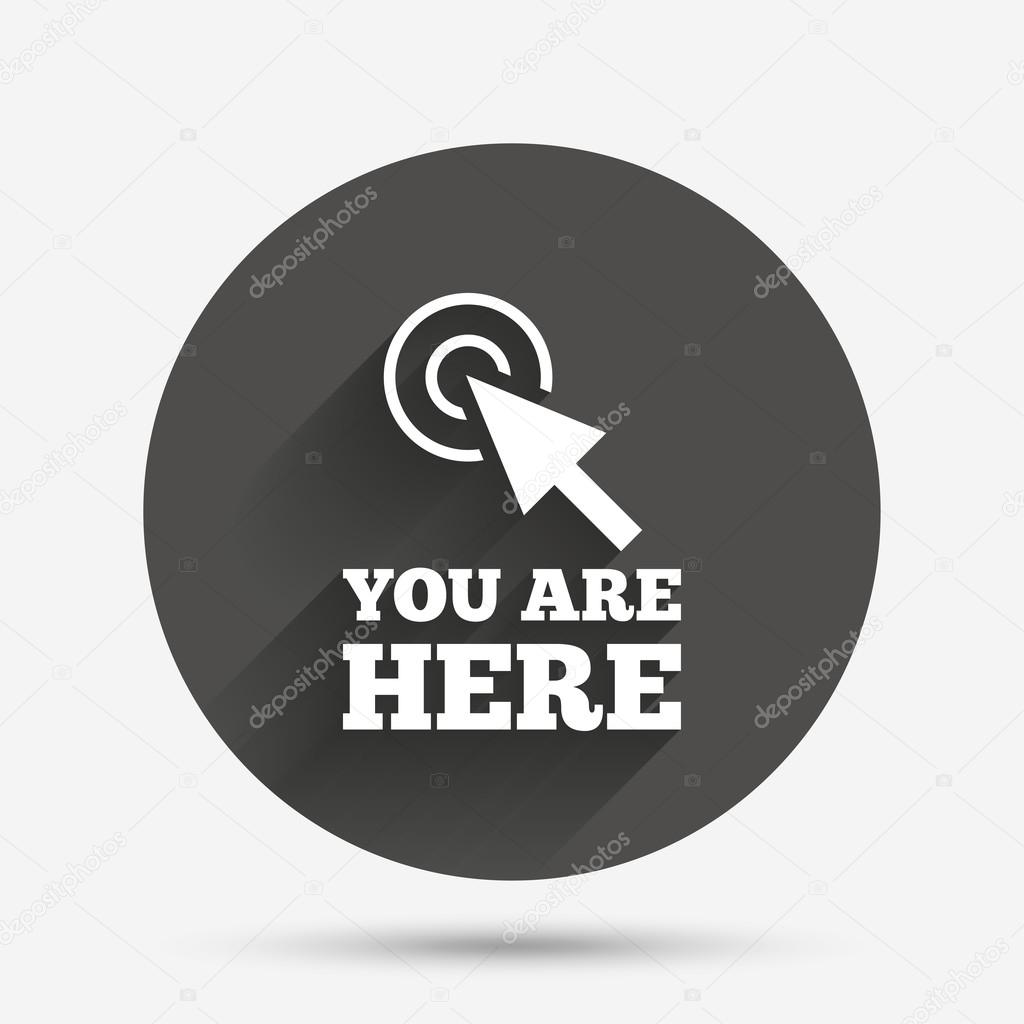 You Are Here Sign Stock Vector Blankstock 114872314
