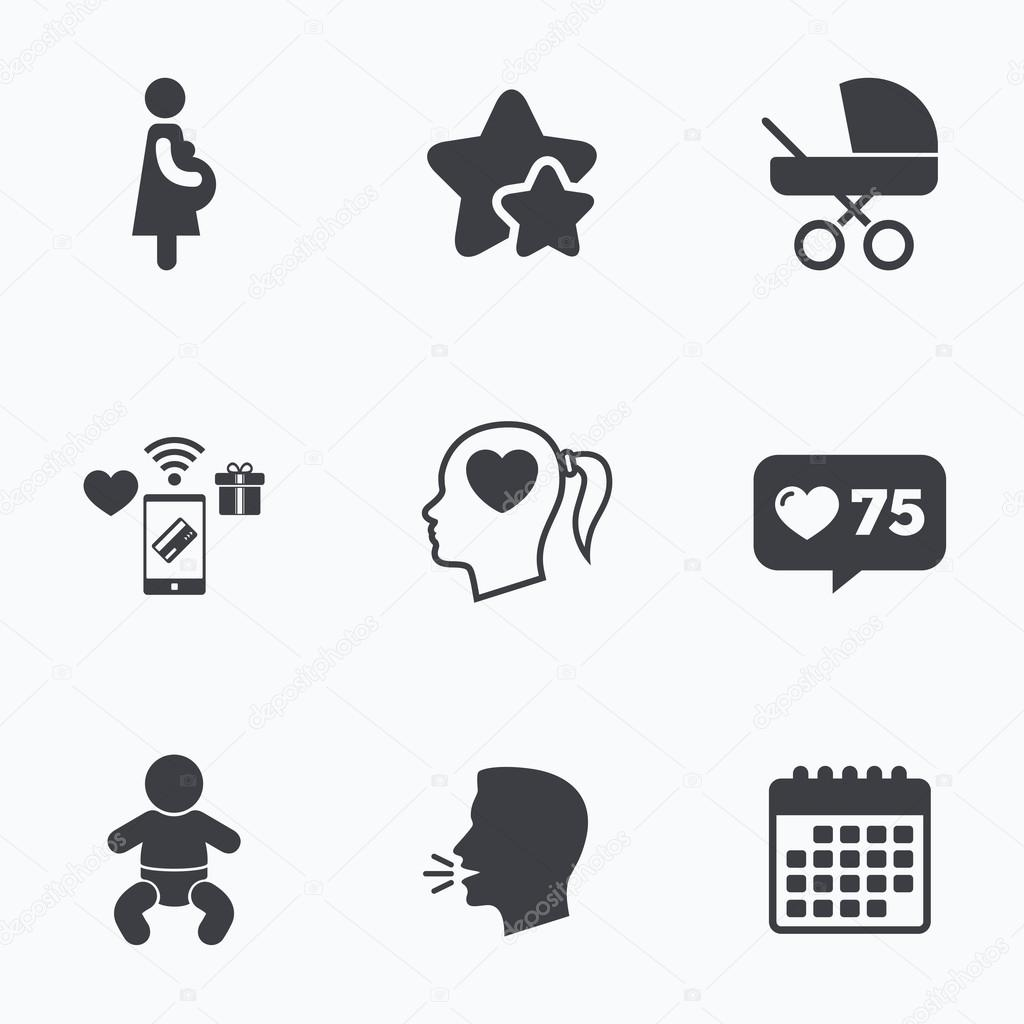 9f78a423a Iconos de maternidad. Embarazo infantil
