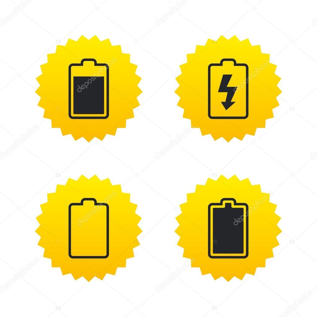 chargement des icônes de la batterie. symbole de l\'électricité ...